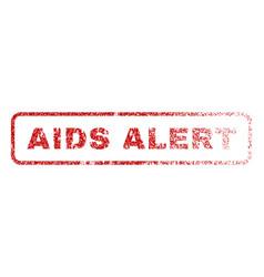 aids alert rubber stamp vector image