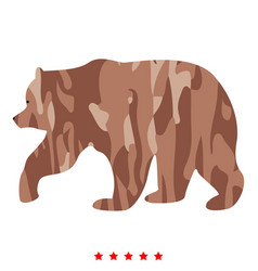 bear icon color fill style vector image vector image