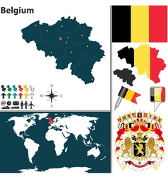 Belgium map world vector