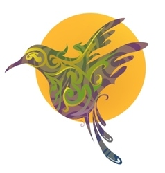 Bird shape vector image