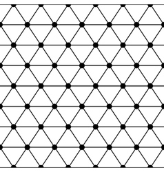 Black white triangles lattice simple seamless vector image vector image