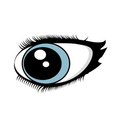 cartoon eyes comic expression vector image