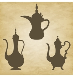 Coffee pots jugs arab vector