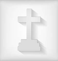 Cross icon gray vector