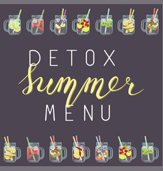 Detox water with fruits vector