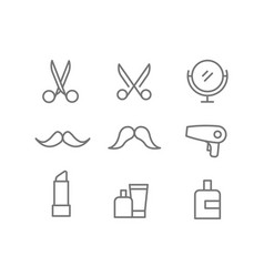 Different beauty salon accessories set elements vector