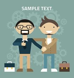 Flat design Partnership concept Handshake vector image vector image
