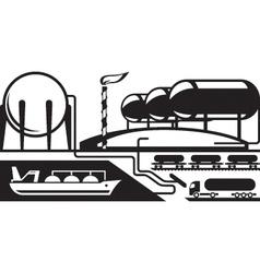 Gas tank terminal vector