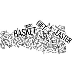 Gift baskets a great way to celebrate easter text vector