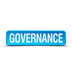 Governance blue 3d realistic square isolated vector