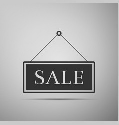 hanging sign with text sale icon vector image vector image