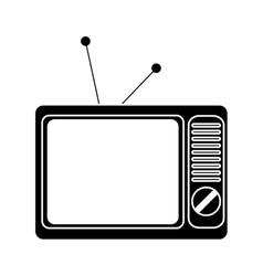 Isolated retro tv design vector