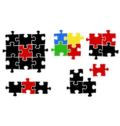 jigsaw puzzle pieces vector image vector image