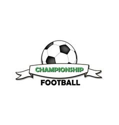 logo football championship vector image vector image