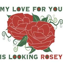 Looking rosey vector