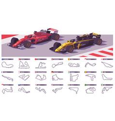 Motor racing tracks vector
