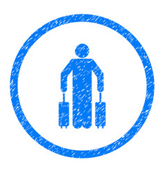 Passenger baggage rounded grainy icon vector