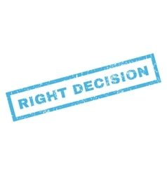 Right decision rubber stamp vector