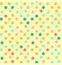 seamless retro pattern of colored stars vector image vector image