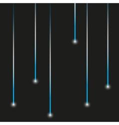 Simple blue lights laser stripes shiny design vector
