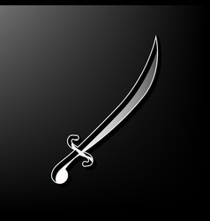Sword sign gray 3d printed vector