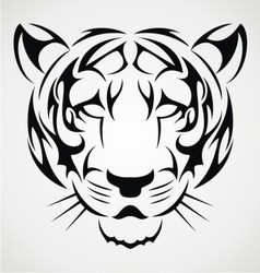 Tiger Tattoo Design vector image