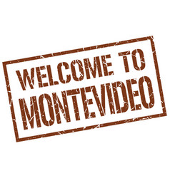 Welcome to montevideo stamp vector