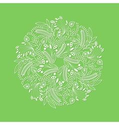 White decorative floral composition vector