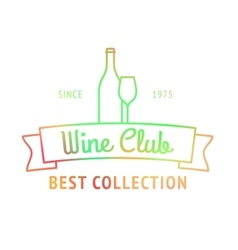 Wine club best collection colorful logo vector image vector image