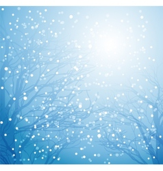 Winter tree and snow vector