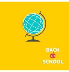 World globe Back to school Flat design style vector image vector image
