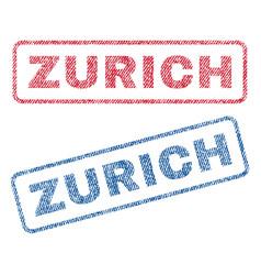 Zurich textile stamps vector