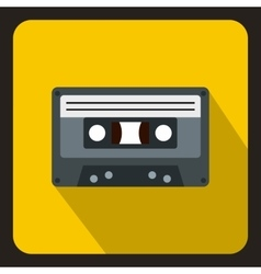 Cassette tape icon flat style vector