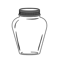 Silhouette glass jar decorative with lid vector