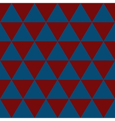 Indigo blue red white triangle background vector