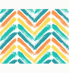Painted chevron pattern blue yellow vector
