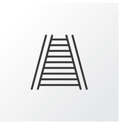 Railway icon symbol premium quality isolated vector