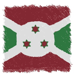 Flag of burundi handmade square shape vector
