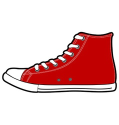 Isolated modern red sneakers vector