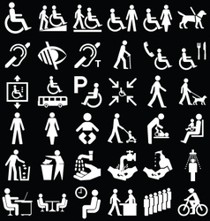 Disability and people Graphics vector image