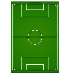 Soccer or football field aerial vector