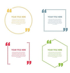 Quote template vector