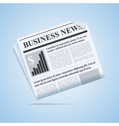 Business news newspaper vector