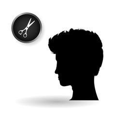 Hair salon design hairdressing icon vector