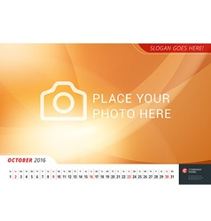 Wall Monthly Line Calendar for 2016 Year Mpdern vector image