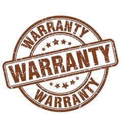 Warranty brown grunge round vintage rubber stamp vector