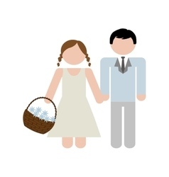 Family concept brothers icon colofull flat and vector