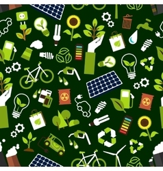 Eco friendly and saving energy seamless pattern vector