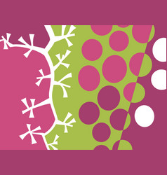 Abstract fruit design with grapes vector