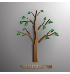 abstract tree with green foliageseps 10 vector image